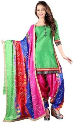 BanoRani Silk Geometric Print Salwar Suit Dupatta Material