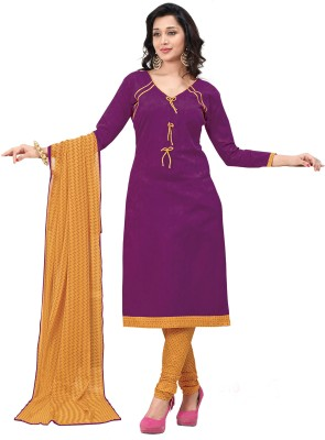 Jiya Cotton Self Design, Embroidered Salwar Suit Dupatta Material