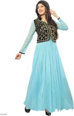Gunjan1002 Satin Embroidered Dress/Top Material