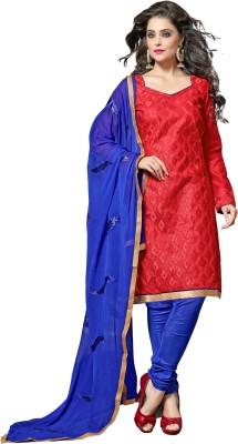 Parisha Chanderi Self Design, Embroidered Salwar Suit Dupatta Material