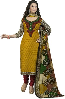 Unique Dresses Cotton Printed Semi-stitched Salwar Suit Dupatta Material