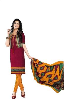 Fashion Curves Cotton Printed Salwar Suit Material, Salwar Suit Dupatta Material, Dress/Top Material