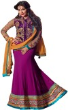 Swaghat Georgette Self Design Semi-stitc...