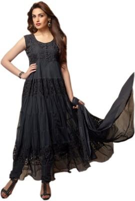 Shoponbit Brasso Printed Semi-stitched Salwar Suit Dupatta Material