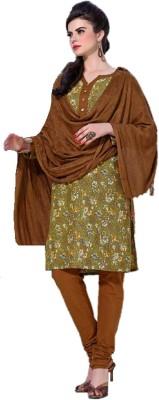 K5Collections Wool Floral Print Salwar Suit Dupatta Material