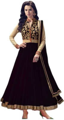 3G9 Shop Net Embroidered Semi-stitched Salwar Suit Dupatta Material