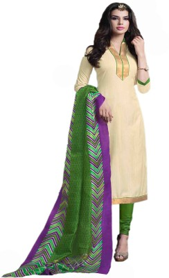 Manjaree Cotton Silk Blend Solid Salwar Suit Dupatta Material