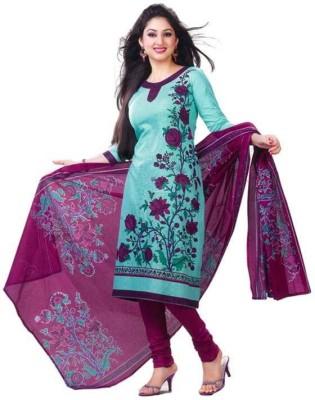 Aashvi Creation Cotton Printed Salwar Suit Dupatta Material(Un-stitched)
