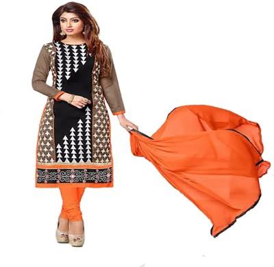 Bharat Cotton Embroidered Salwar Suit Dupatta Material