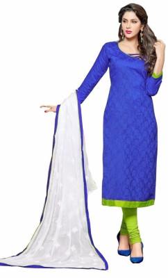 Shree Ganapati Textile Chanderi Embroidered Semi-stitched Salwar Suit Dupatta Material