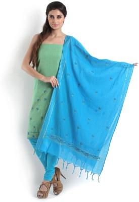 Kasturi-B Swadeshi Karigari Cotton Embroidered Salwar Suit Dupatta Material