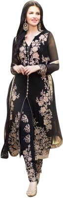 West Turn Georgette Embroidered Salwar Suit Dupatta Material
