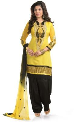 Fabcart Chanderi Embroidered Salwar Suit Dupatta Material