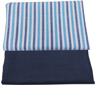 Fashion Foreplus Cotton Polyester Blend Striped Shirt & Trouser Fabric