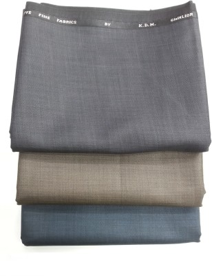 KDM Polyester, Viscose Solid Trouser Fabric