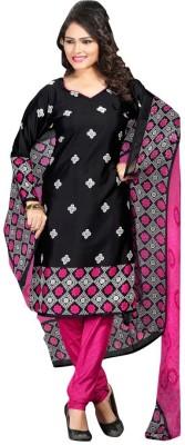 Trendz Apparels Crepe Printed Salwar Suit Dupatta Material