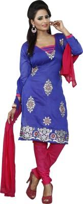 Khazana Chanderi Self Design Semi-stitched Salwar Suit Dupatta Material