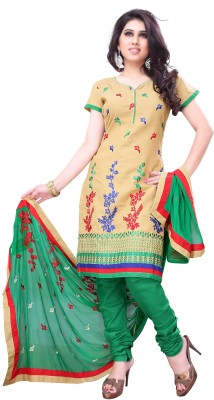 JTInternational Cotton Embroidered Salwar Suit Dupatta Material