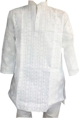 Priority Cotton Embroidered Kurti Fabric