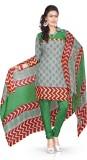 Vibes Cotton Printed Salwar Suit Dupatta...