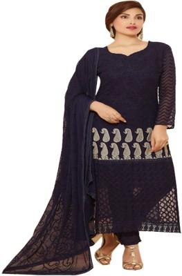 Adorn Fashion Chiffon Embroidered Salwar Suit Dupatta Material