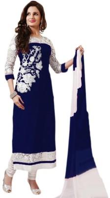 Femeie Apparel NX Georgette Embroidered Salwar Suit Dupatta Material