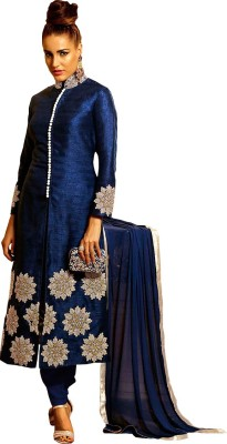 Eleven Creation Synthetic Embroidered Salwar Suit Dupatta Material