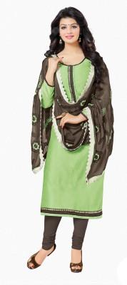 Frenzy Fashion Chanderi Embellished Salwar Suit Dupatta Material