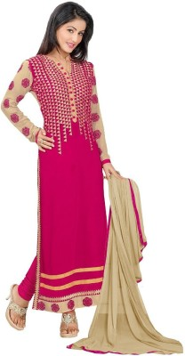 Rajcreationstore Georgette Embroidered Salwar Suit Dupatta Material