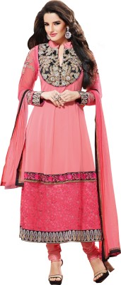 Vaamsi Georgette Self Design Dress/Top Material