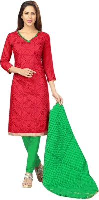 V-Karan Chanderi Embroidered Salwar Suit Dupatta Material