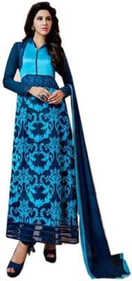 Trendiez Georgette Printed Semi-stitched Salwar Suit Dupatta Material