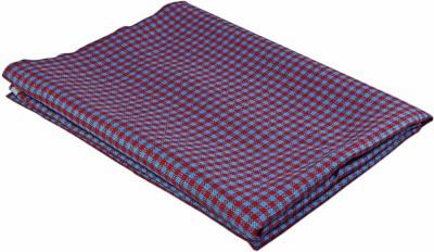 Boalamo Linen Checkered Multi-purpose Fabric(Un-stitched)