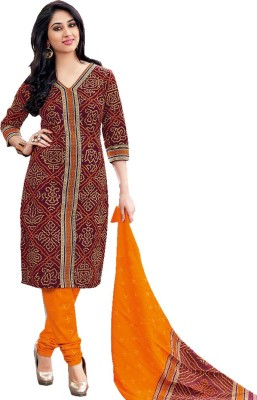 Samah-Fashion Cotton Self Design Salwar Suit Dupatta Material
