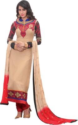 Dlines Brasso Embroidered Salwar Suit Dupatta Material