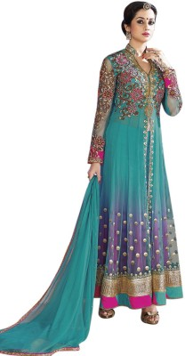 Kimana Net Self Design Semi-stitched Salwar Suit Dupatta Material