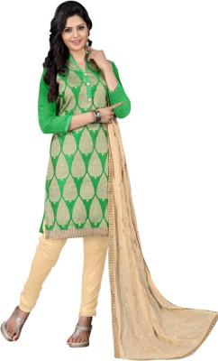 Ganga Fashion Jacquard Embroidered Salwar Suit Dupatta Material