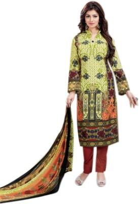 Vastrangsarees Satin Printed Salwar Suit Dupatta Material