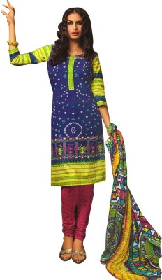 Yati Cotton Polka Print Salwar Suit Dupatta Material