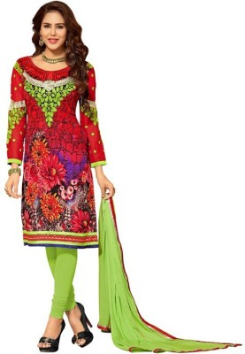 Parishi Fashion Cotton Embroidered Salwar Suit Material(Un-stitched)