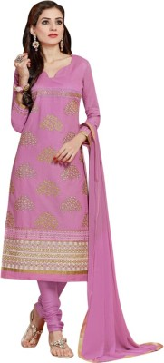 Fladorfabric Cotton Embroidered Salwar Suit Dupatta Material