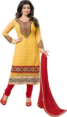 Fabviva Georgette Self Design Semi-stitched Salwar Suit Dupatta Material