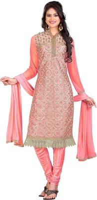 Shopeezo Net, Georgette Embroidered Salwar Suit Dupatta Material