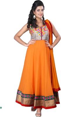 Ample Georgette Self Design Semi-stitched Salwar Suit Dupatta Material