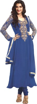 Nikshi Georgette Embroidered Semi-stitched Salwar Suit Dupatta Material