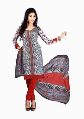 Merry Fashion Crepe Self Design Salwar Suit Dupatta Material