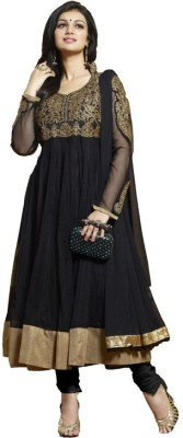Womensstore Georgette Embroidered Semi-stitched Salwar Suit Dupatta Material
