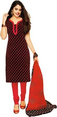 Salwar Studio Cotton Polka Print Salwar Suit Dupatta Material