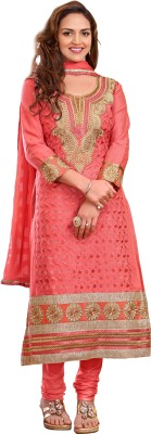 Zombom Cotton Embroidered Semi-stitched Salwar Suit Dupatta Material