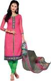 Meghali Chanderi Solid Salwar Suit Dupat...